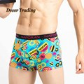 New brand quality men's underwear boxer shorts Natural cotton casual style mens boxers shorts sexy underpants 6005