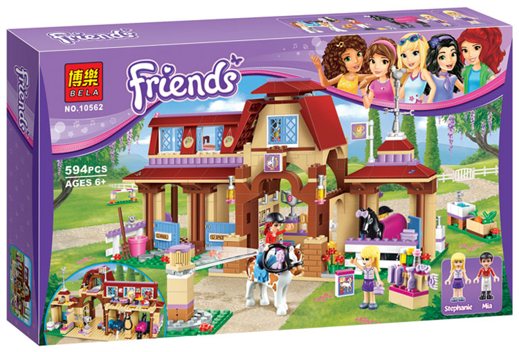 Legoings Friends For Girl Heartlake Riding Club Horse Stables Block Set Mia Stephanie Building Toy Compatible with 41126 stephanie diamond prezi for dummies