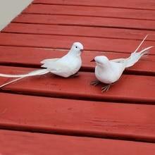 Buy   White Foam Artificial Birds Ha  online