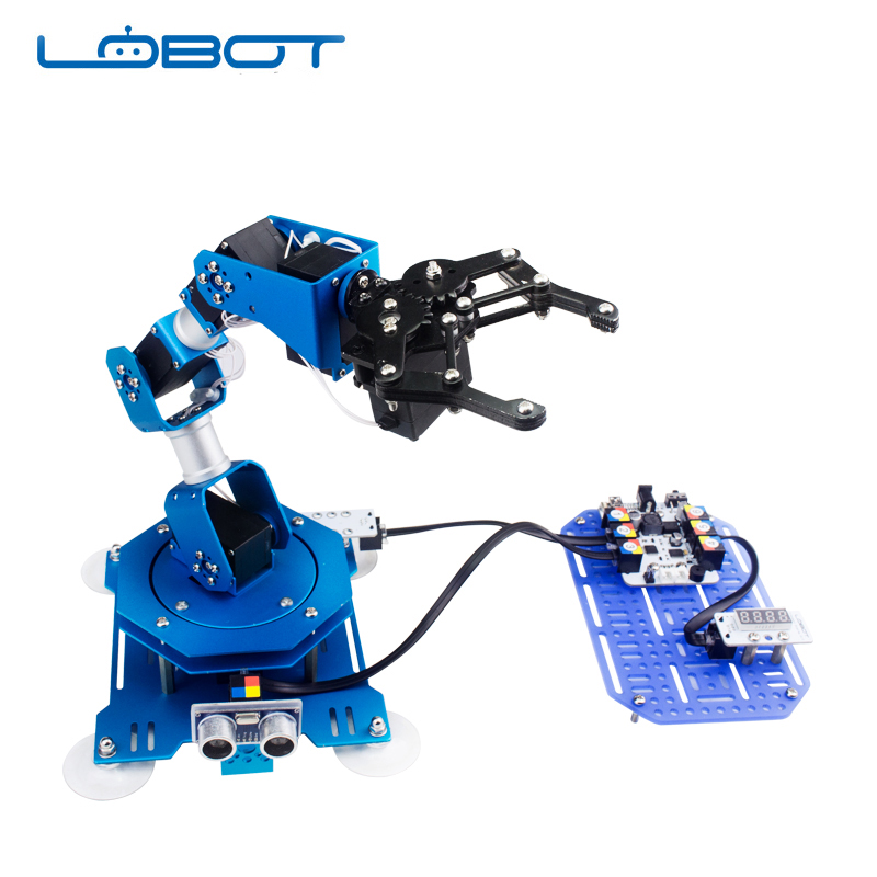 Robot industriel 6 DOF Arduino bras à gratter Bus série Micro Servo télécommande infrarouge pièces Robot