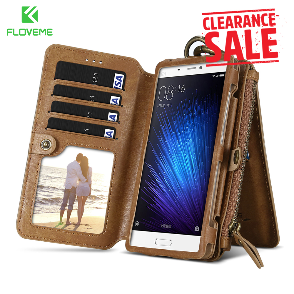FLOVEME Leather Phone Bag Cover for Xiaomi 5 Rero Business Wallet Case for Xiamomi Mi5 Stand+Card-slot Mobile Phone Accessories