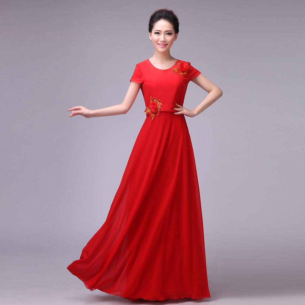 S~4XL Formal dresses special occasion stage performance party ...