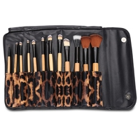 Tragbare 12 stücke Make-Up Pinsel Lidschatten Augenbrauen Kosmetik Werkzeug Leopard Make-Up Pinsel Set Professionelle Frauen Kosmetikpinsel