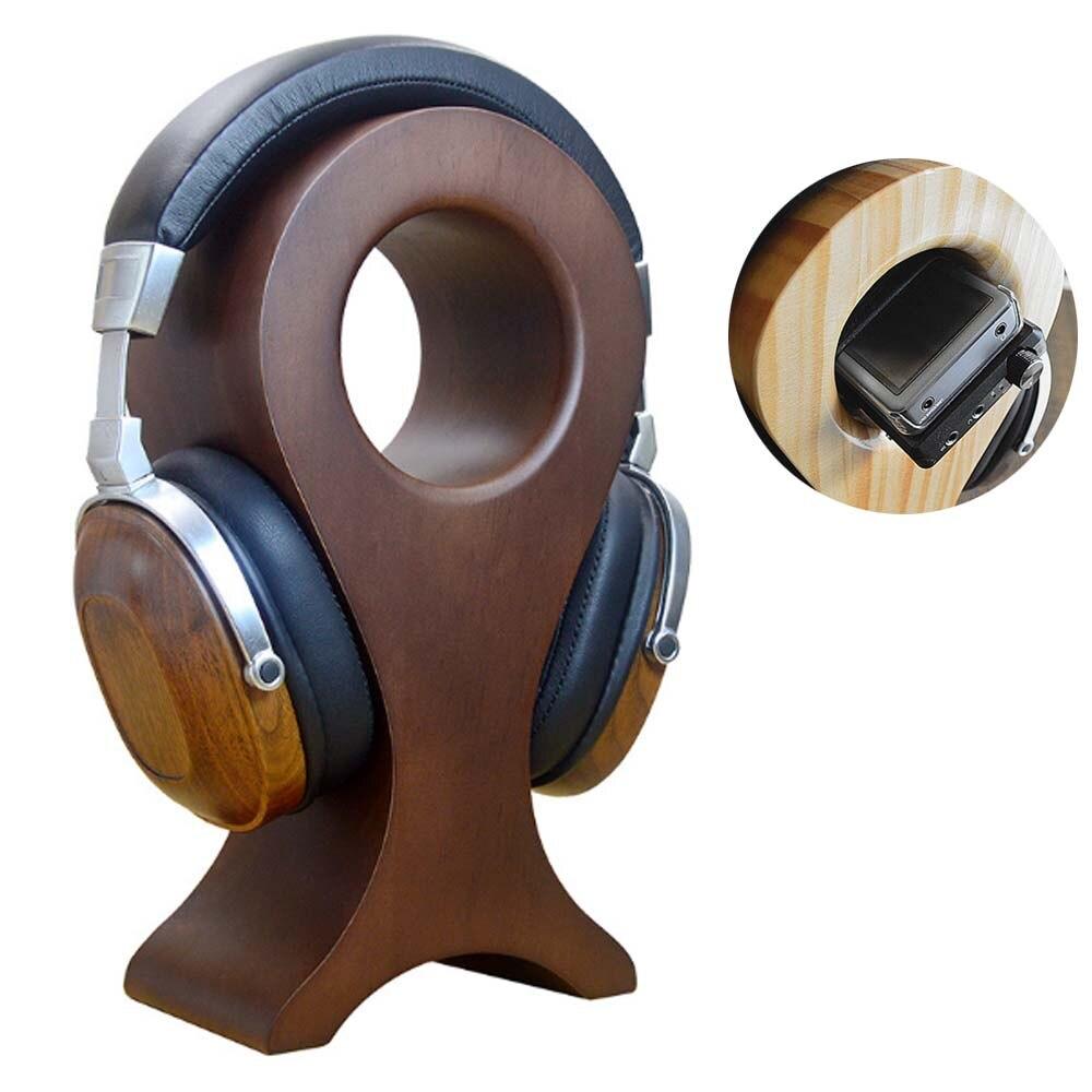 JINSERTA auriculares de madera soporte colgador de soporte de madera auriculares de escritorio estante de exhibición Universal soporte de auriculares Accesorios-in Accesorios de auriculares from Productos electrónicos    1