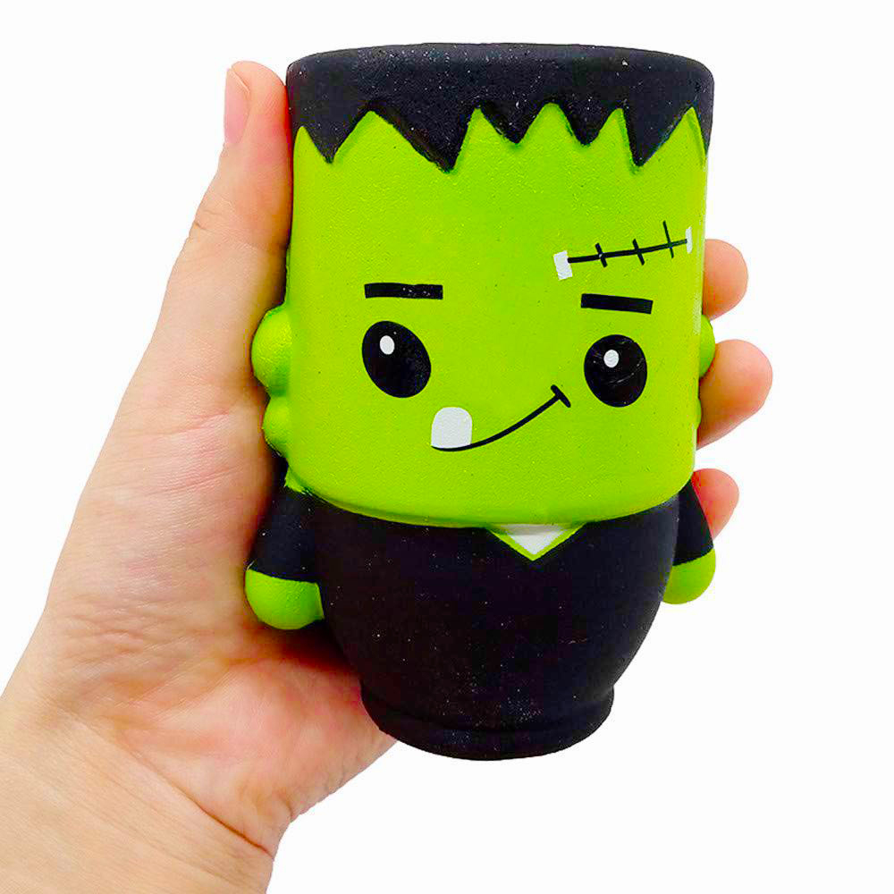 Jumbo Cute Zombie Squishy Slow Rising Soft Squeeze Toy Smooth Straps Scented Simulation Stress Relief Fun For Kid Gift Xmas Toy
