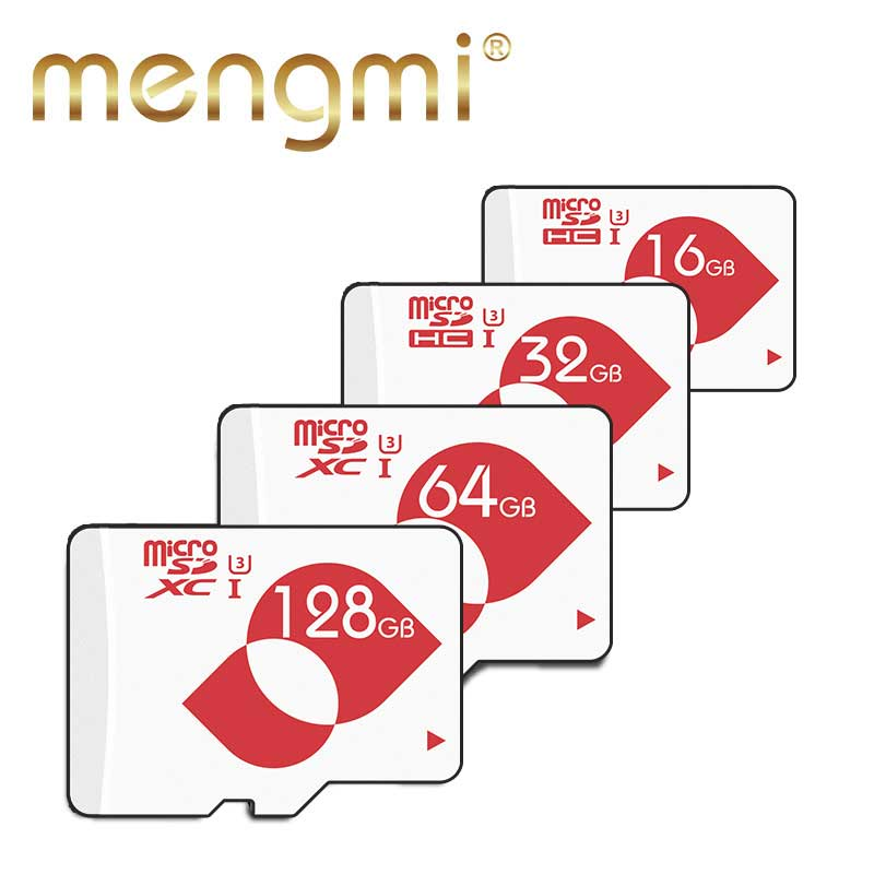 Mengmi U3 Memory Card 16GB 32GB New Micro sd card Class10 UHS-3 64GB 128GB Read Speed 90 ...