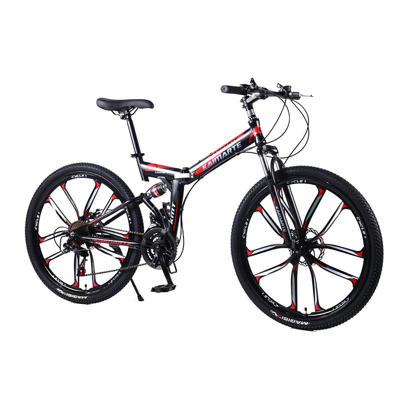 26inch mountain bike 21speed folding bicycle Adult bike Men s and women s mountain bike Spoke Innrech Market.com