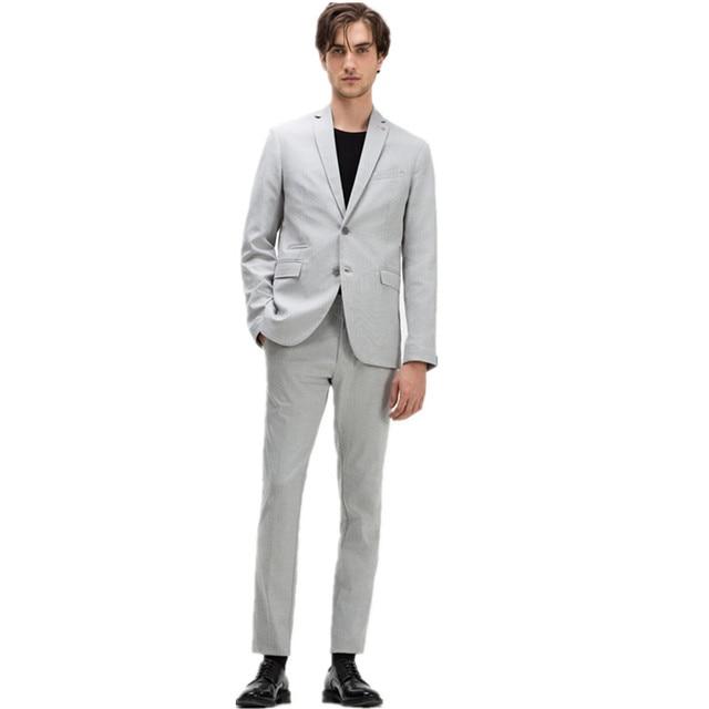New Men Long Sleeved Blazers Suits+Vest+Pants Custom Wedding Suits ...