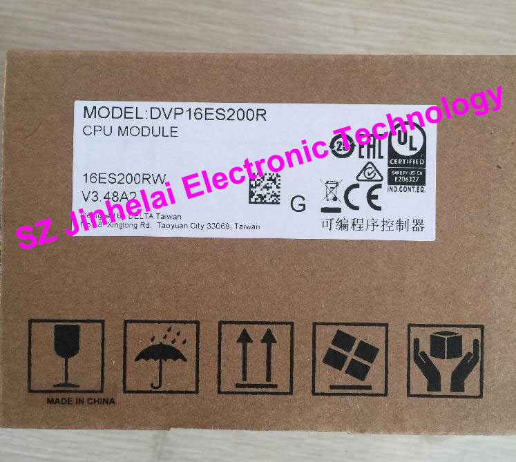 New and original  DVP16ES200R  DELTA  PLC relay type new original delta dvp06sn11r dc24v plc 6do relay module