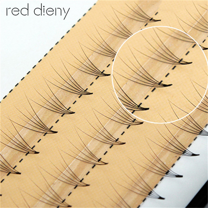 1 Box Beauty Natural Long Handmade 0.07 C Curl 5D Individual Mink Eyelashes Extension So ...