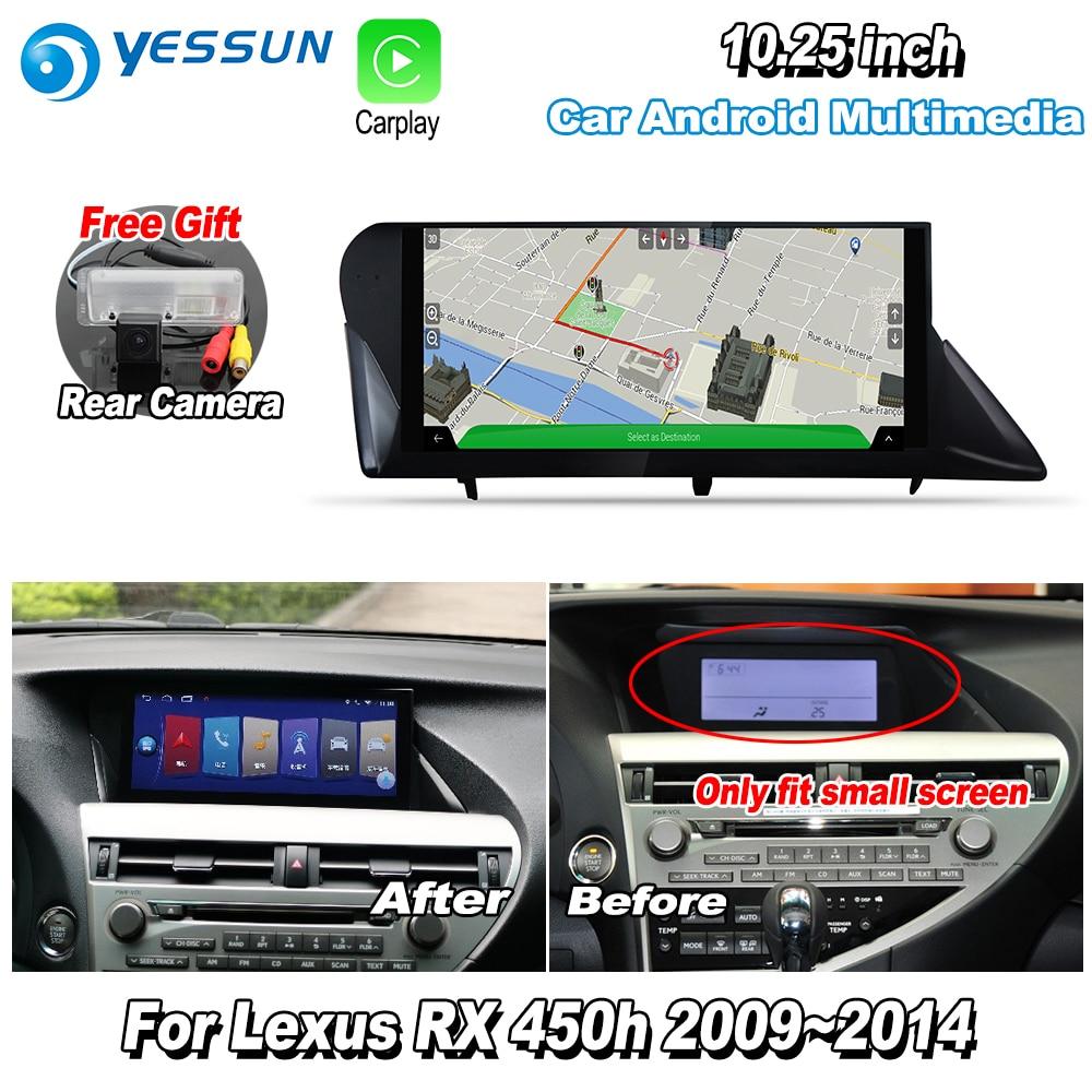 YESSUN 10.25'' For Lexus RX450h RX 450h 2009~2014 AL10 Car Android Carplay GPS Navi maps Navigation Player Radio WiFi no DVD 1