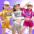 Salón de baile de Jazz de Baile Para Niñas Jazz Trajes de Baile para Niñas Chico Hip Hop Niños Performance Lentejuelas Jazz Trajes Para La Muchacha