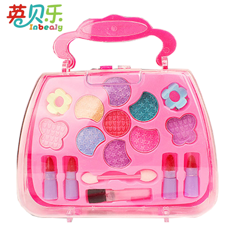 Inbeajy Pretend Play Plastic Princess Girls Makeup Toys Deluxe Makeup Palette Set NON TOXIC Simulation Dressing Table For Kids  ...