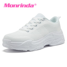 Popular Style Women Snekaers Breathable Mesh Running Shoes for Woman Outdoor Black White Sports Female Athletic Lace Up Sneaker