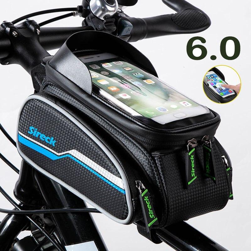 Diagonal Backpack Bicycle Front Frame Bag Bike Beam Packet Upper Tube Package
