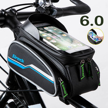Sireck Road Bike Bicycle Bags Reflective Waterproof Cycling Top Front Tube Frame Bags 6.0 inch Touch Screen Phone Case