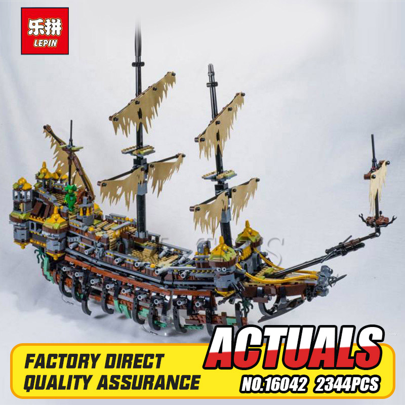 New 16042 Pirates series The silent mary model Building Blocks Compatible 71042 Classic Ship-styling education Toy for children osborne mary pope magic tree house 4 pirates treasure
