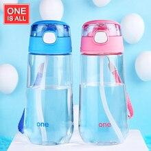Uno de ellos Es Todo GYBL039 500 ml Mi Botella de Agua niños con paja Taza de agua Botellas de Agua Potable Portátil de Dibujos Animados niño Deporte taza