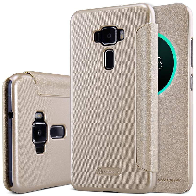 Asus zenfone 3 ze552kl case 5.5 polegada nillkin faísca tampa articulada pu leather case capa para zenfone 3 ze552kl smart view janela