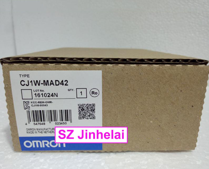 New and original  CJ1W-MAD42   OMRON   Analog input/output unit new and original e3x da11 s omron optical fiber amplifier photoelectric switch 12 24vdc