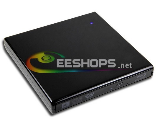 for Samsung Toshiba Sony Ultrabook External USB Blu-ray Player 6X 3D Bluray Players BD-ROM Combo Optical Drive Piano Black Case