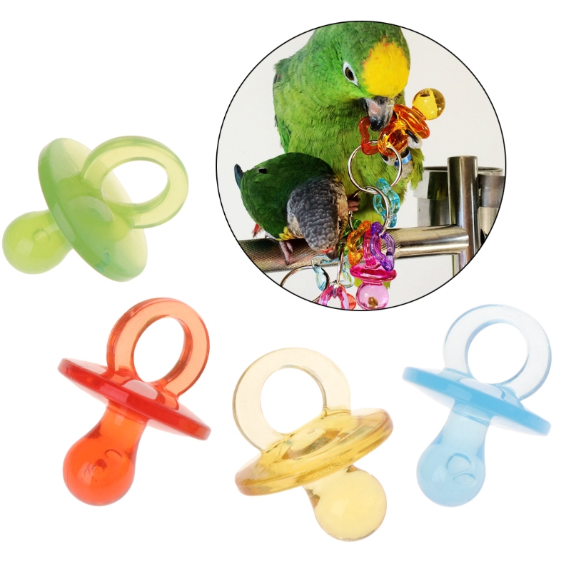 3 4 In Octagon Bird Toys : Pcs parrot toys acrylic nipple bite chew colorful birds