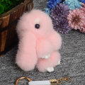 2017 Real Mink Animal Key Chains 14cm Fur Rabbit keychains For Women Bag pendant Bunny Popular Hot Sale Stylish For Young Girl