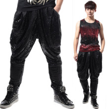 Casual tide pants men s Haren pants loose sequins pants trousers costume slim star bar DS