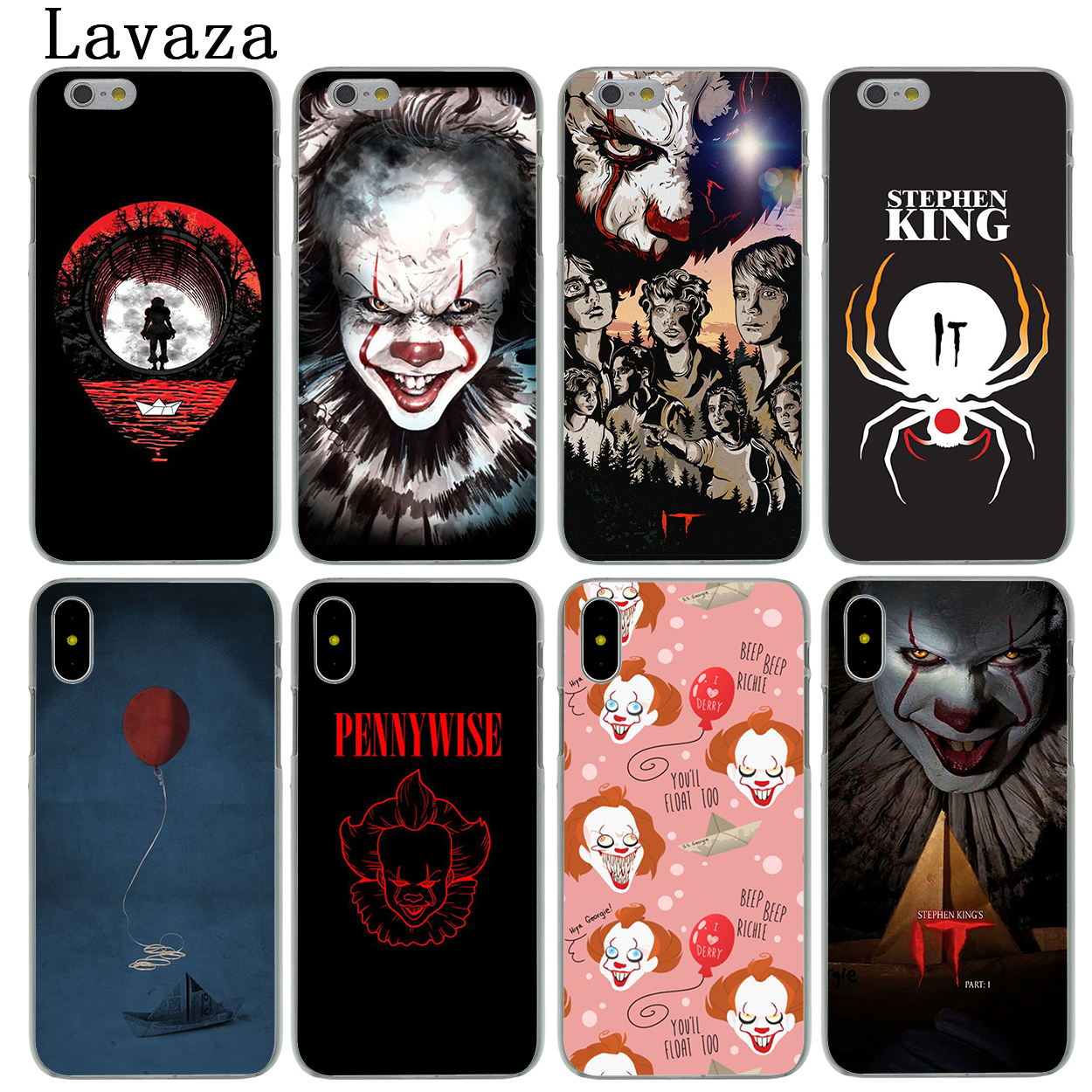 Lavaza Stephen Kings It Hard Fashion Phone Skin Shell Case for Apple iPhone X 10 8 7 6 6S Plus 5 5S SE 5C 4 4S Cover