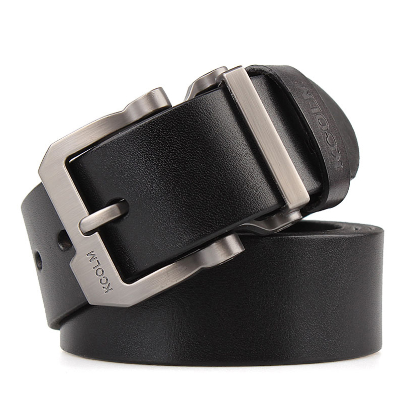 Image 2 - cowskin leather designer Quality with silver buckle Jeans belt tmallfs men heavy duty luxury strap big size XXL long 140 150male strapbelt brandbelt designer -