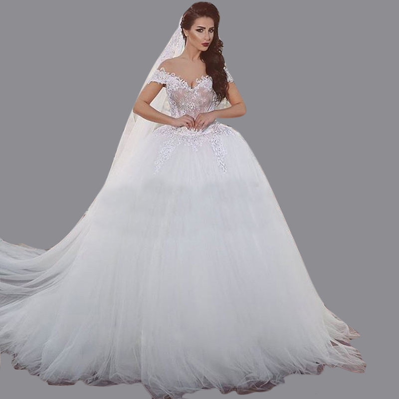 Ball Gown Sweetheart Beaded Hippy Wedding Dresses Soft White Tulle ...