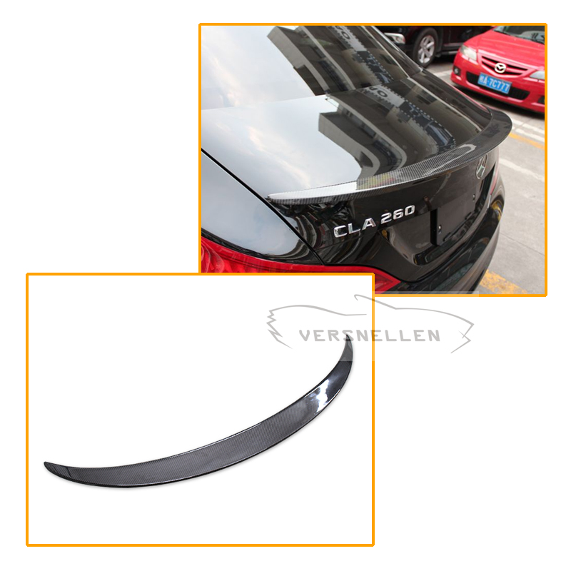 For Mercedes CLA Spoiler CLA45 W117 C117 Carbon Fiber Rear Trunk Wings Spoiler cla 200 250 260 2013 2014 2015 2016 UP