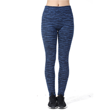 Navy Blue Stripe Women Leggings Spandex Home Leisure Trousers Winter Warm Leggings Female Pant Sweatpants 25003