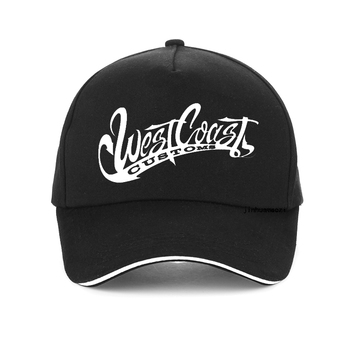 West Coast Tide Card Cartoon cap Skull Motorcycle100% Cotton Baseball Summer west coast customs Men Women snapback hat