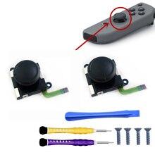 2 pcs 3D Analog Joystick Thumb Stick For Nintend Switch JoyCon Sensor Module Potentiometer Repair Parts with Screwdriver Screws g7f at2a analog potentiometer 4 spot extension module brand new