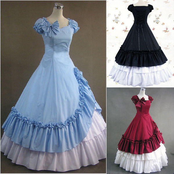ZNCJ Newest Southern Belle Ball Gown Victorian Dress Adult Women ...