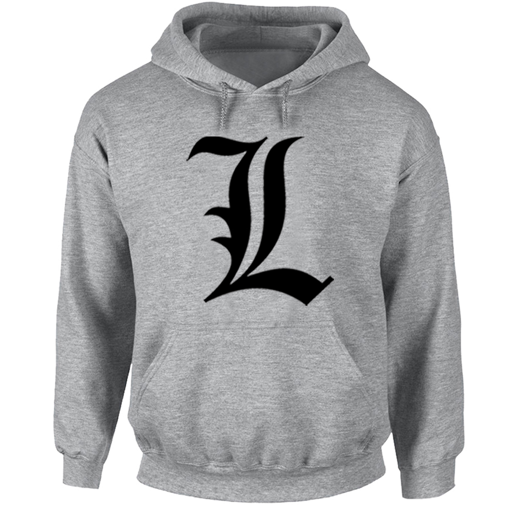 Punk Style Anime Death Note Symbol Hoodies Men Women Off White Sweatshirt for Boy Girl THUG LIFE EST.187 Skulls Hoody Jackets