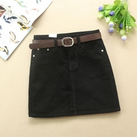 Summer Fashion Mid Waist A Line Skirts Womens Pockets Denim Skirt Female Saias 2018 New All