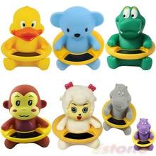 Высокое качество Детские для ванной Ванна температура воды тестер игрушка милые животные Форма термометр APR10