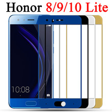 Full Cover Protective Glass On the Honor 8 9 10 Lite For Huawei Honor8 Honor9 screen protector honer huawey honnor 9lite Light(China)