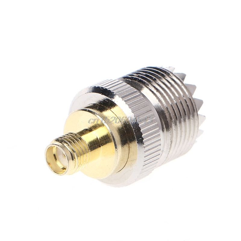SMA Female To UHF Female RF Coaxial Connector Adapter SO-239 SO239 R24 Drop Ship sma uhf rf connectors kit sma to uhf l259 so239 4 type set sma jack plug to uhf nickel gold plated test converter