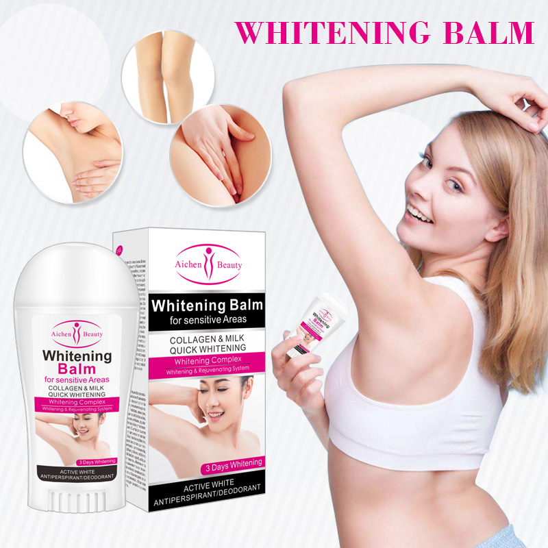 Aichun Beauty Whitening Balm For Sensitive Areas  Collagen Milk Quick System Skin Antiperspirants