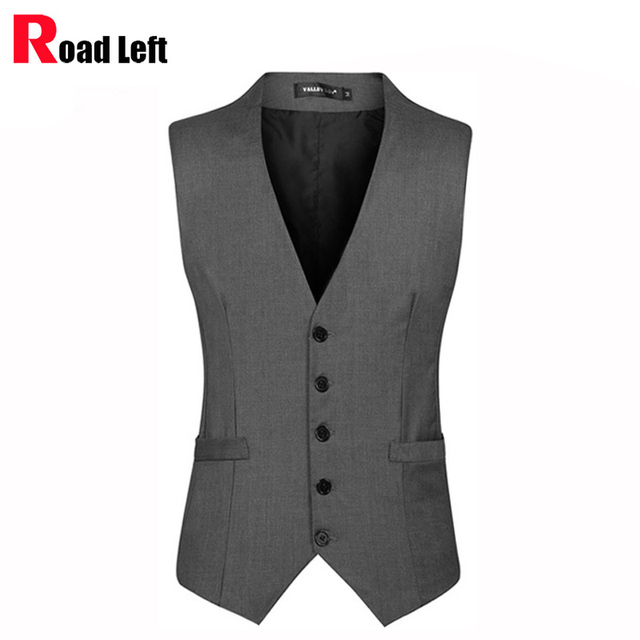 New 2015 Mens Fashion Brand Slim Fit Cotton Single-Breasted Sleeveless Jacket Waistcoat Men Suit Vest Business Dress Gilet 3XL