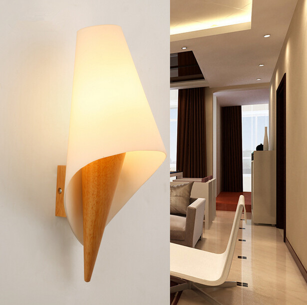 Chinese Style Bedside Bedroom Living Room Solid Wood Wall Lamp Simple Modern Aisle Wooden Wall Light Free Shipping modern wooden led wall lamp bed room bedside natural solid wood white glass bedroom bedside aisle corridor entrance wall sconce