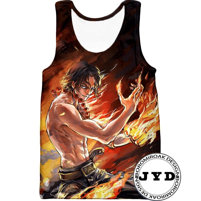 Tank     Top   Men One Piece Luffy 3D Print Gym   Tanks     Tops   Summer Fitness Sleeveless Shirt Cool Anime Vest Men Clothes 2019