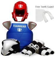 2016 Hot Sale Adult Kids Taekwondo Thickening Wtf Taekwondo Protection 5pcs Taekwondo Protector Chest Protector Karate