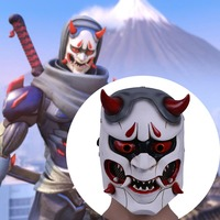 Game OW Genji Skin Oni Mask Cosplay Mask Resin Hero Mask Prop for Halloween Party Use Gift