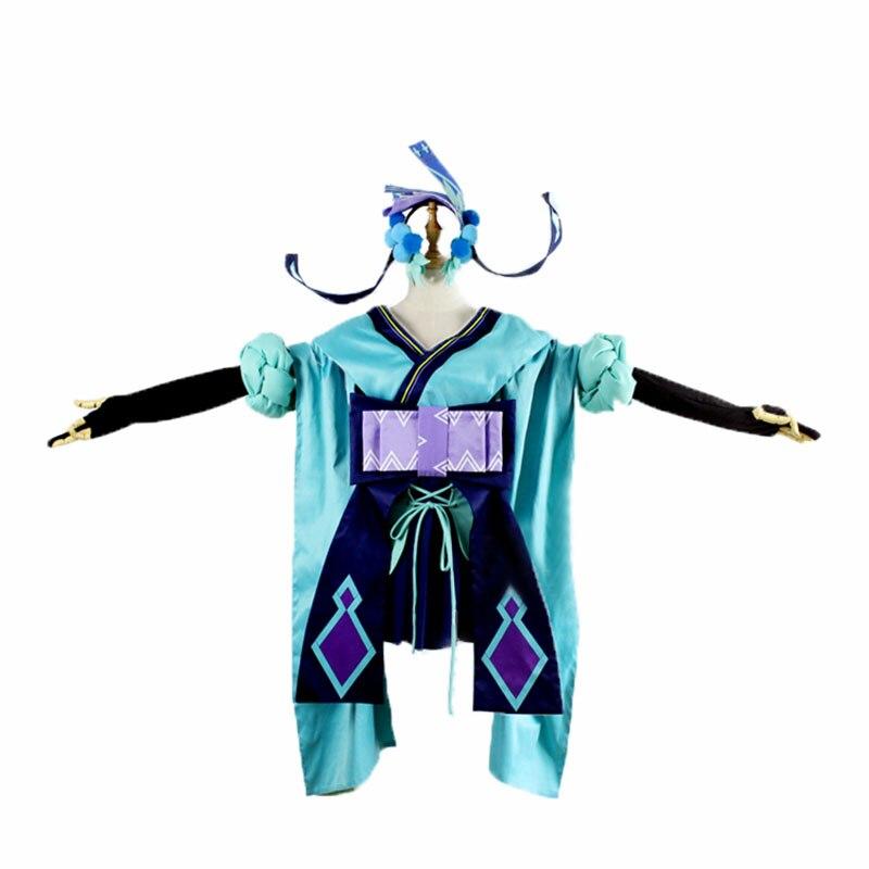 Костюм для косплея Onmyoji Cos aoandon, модная одежда в стиле кимоно, аксессуар для волос для взрослых, для Хэллоуина, карнавала, Рождества