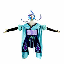 Onmyoji Cos aoandon Fancy Kimono Clothing Outfit Cosplay Costume with hair accessory For Adult Halloween Carnival Christmas