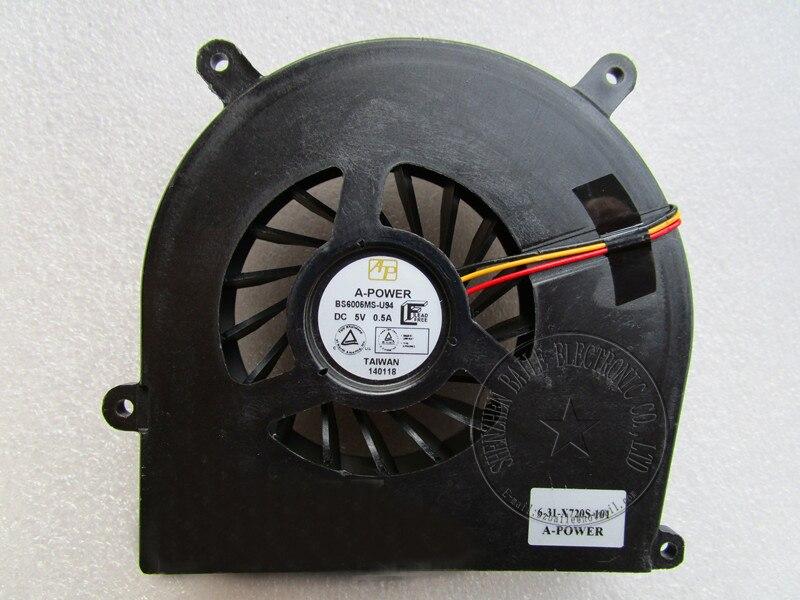 (5pcs/lot)Brand New CPU fan For Clevo X511 X611 X711 X811 A-Power BS6005HS-U0D 6-23-AX510-012 KSB0705HA Laptop CPU Fan (big)